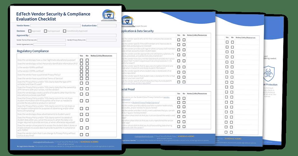 EdTech Vendor Security Compliance Checklist Preview Image